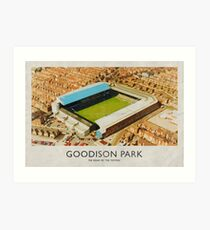Vintage Football Grounds - Goodison Park (Everton FC) Art Print