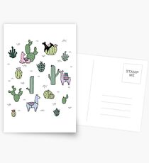 Cacti Llamas Postcards