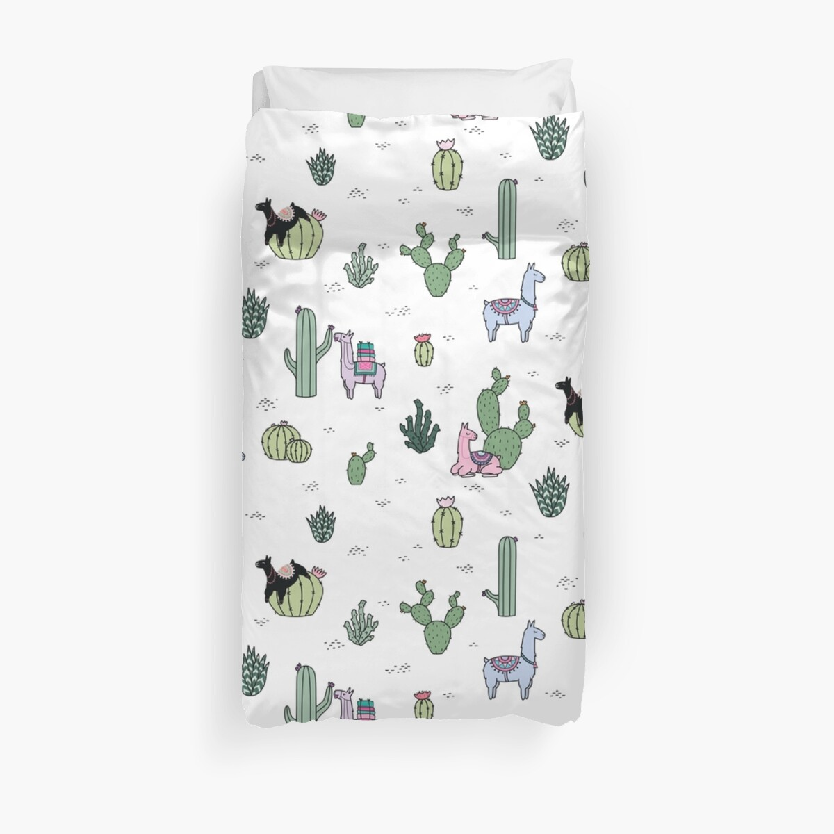 cactus lamas housses de couette par shopzoki redbubble. Black Bedroom Furniture Sets. Home Design Ideas
