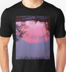 Pink Clouds in the Rideau River, Ottawa, ON  Unisex T-Shirt