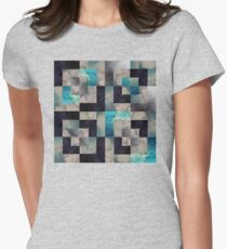 chop block sky Womens Fitted T-Shirt
