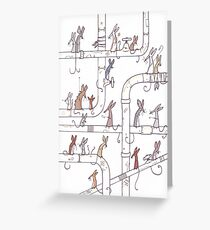 Mice on Pipes Greeting Card