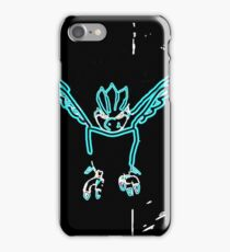 Mysterious neon ice bird iPhone Case/Skin