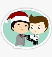 Holiday Roommates Sticker