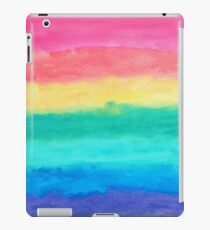 Abstract Brush Strokes Blue Pink & Yellow iPad Case/Skin