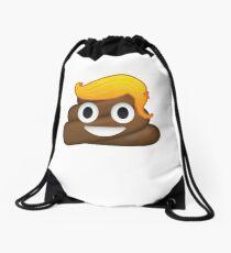 Donald Trump Poop Emoji Blonde Yellow Hair Drawstring Bag