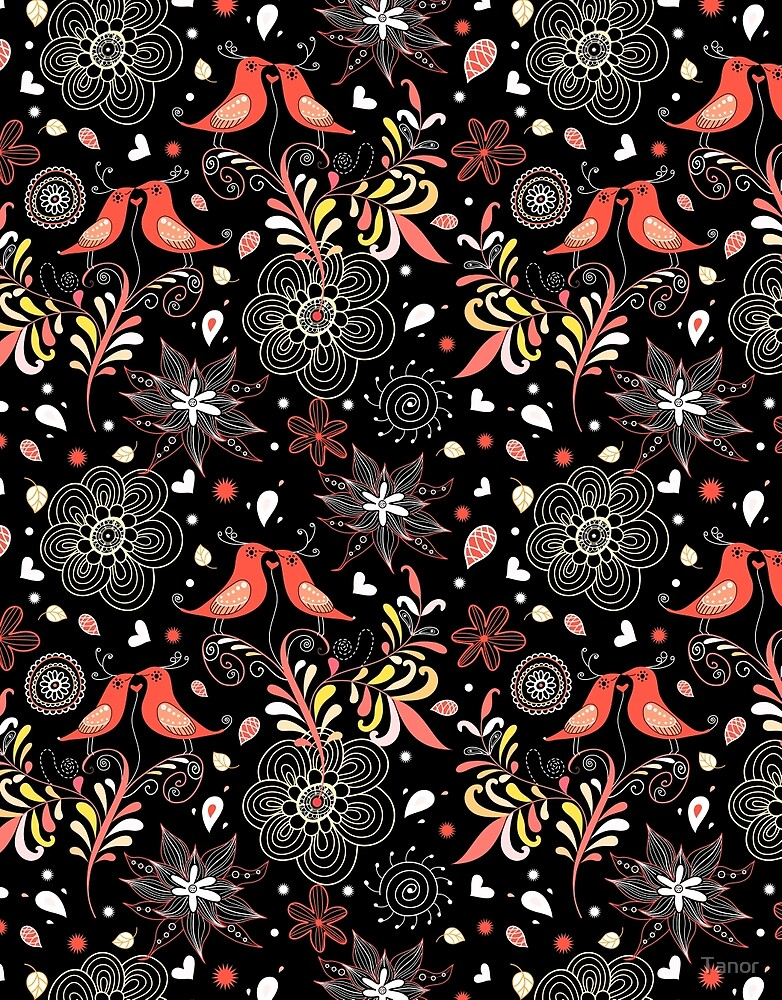 pattern bird lovers by Tanor