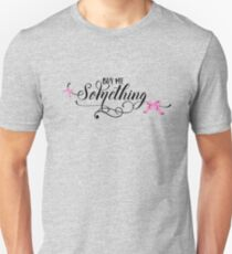 Buy Me Something - Cute Funny Girly Shopping Typography Bow Lettering Text T-Shirts And Gifts Design T-Shirt