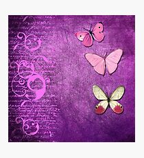 Violet Butterflies Songs Photographic Print