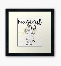 Magical AF Funny Unicorn (Magical As F*ck) Framed Print
