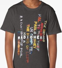 Radiohead - Album Design (Vertical #1) Long T-Shirt