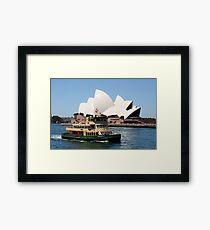 Sydney Opera House and ferry Framed Print