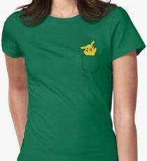 Pocket Pikachu! Womens Fitted T-Shirt