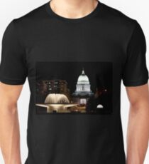 Wisconsin State Capitol building at night Unisex T-Shirt