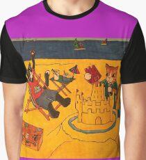 Beach Cats Summer Graphic T-Shirt
