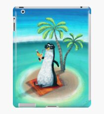 tropical dream in the summer of a penguin iPad Case/Skin