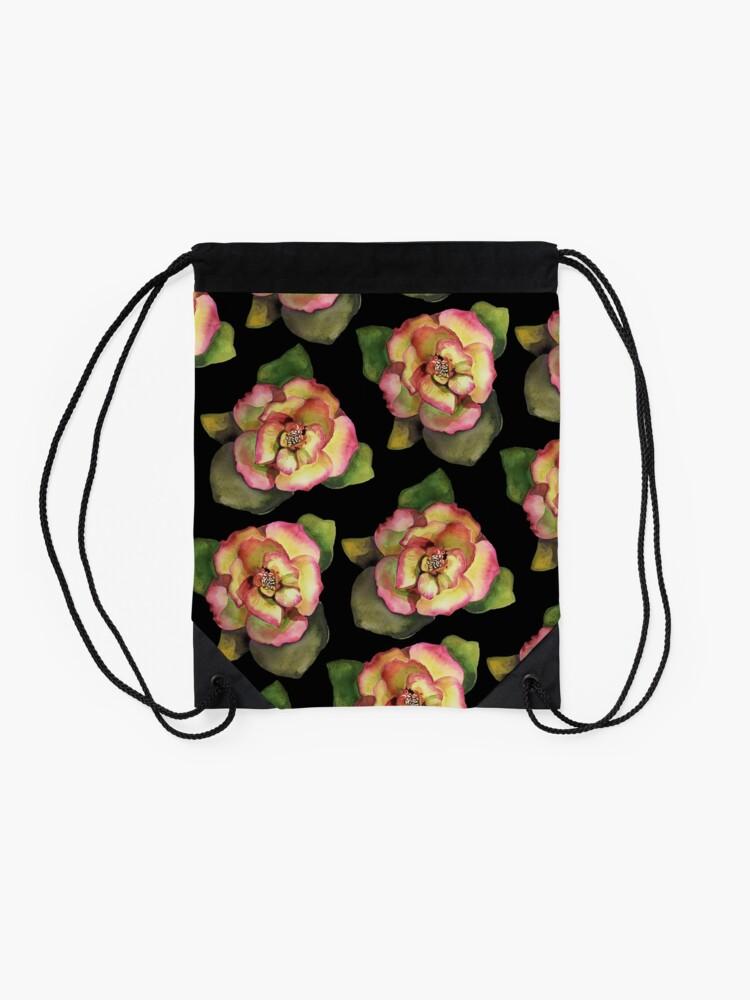 Vista alternativa de Mochila saco Rose es una rosa es una rosa es una rosa por dotsofpaint