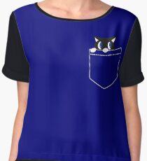 The Ngintip Cat Women's Chiffon Top