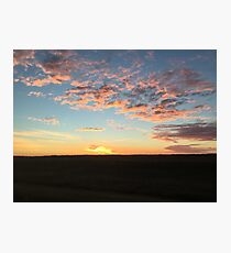 Sunrise with colourful clouds Photographic Print