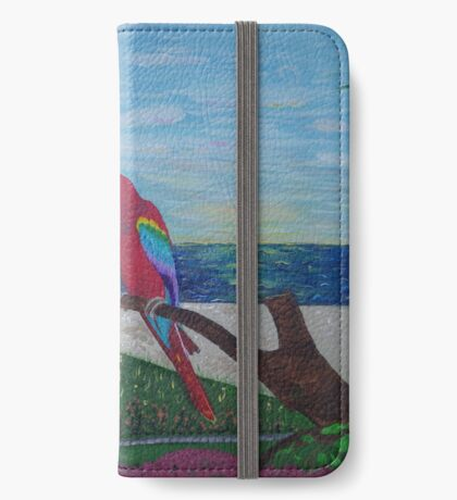Parrots Chatting by the Sea iPhone Wallet