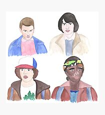 Stranger Things Kids Photographic Print