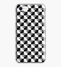 Black and White Checkerboard Scales of Justice Legal Pattern iPhone Case/Skin