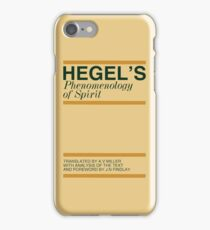 Hegel's Phenomenology of Spirit iPhone Case/Skin