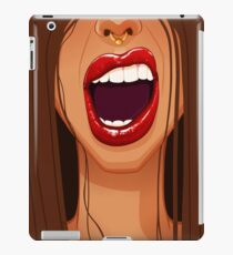 Lips and Nose Ring iPad Case/Skin