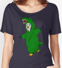 Penguin in a Dino Suit Women's Relaxed Fit T-Shirt