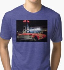 Ace Cafe Orlando Distressed Red Ford Car Tri-blend T-Shirt
