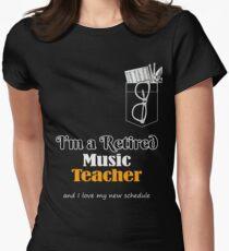 Funny Music Teacher Retirement T Shirt wth Pocket Design Womens Fitted T-Shirt