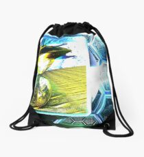 alien interface Drawstring Bag
