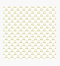 Gold Scales Of Justice on White Repeat Pattern All Over Print Photographic Print