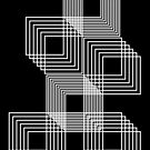 Optical illusion hollow squares - black and white 2 by stuARTconcepts