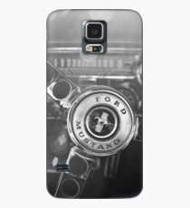 1965 Shelby Prototype Ford Mustang  Steering Wheel -0239bw Case/Skin for Samsung Galaxy