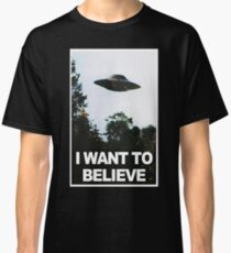 I want to believe // x files Classic T-Shirt