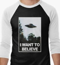 I want to believe // x files Men's Baseball ¾ T-Shirt