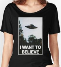 I want to believe // x files Women's Relaxed Fit T-Shirt