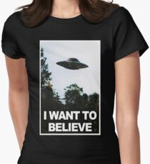 I want to believe // x files Women's Fitted T-Shirt