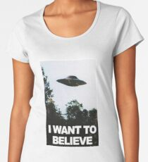 I want to believe // x files Women's Premium T-Shirt