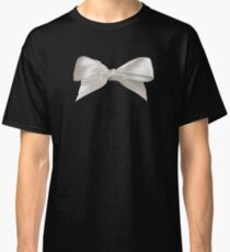 White Bow on Black Classic T-Shirt