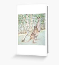 Australian Kangaroos Greeting Card