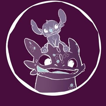 Tri-logo Toothless and stitch by EllieAnsell