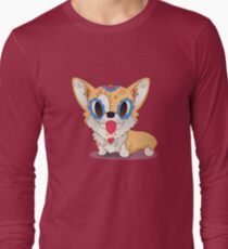 Pickles the Corgi Day of The Dead | PopMuertos Long Sleeve T-Shirt