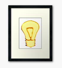 Golden Idea Framed Print