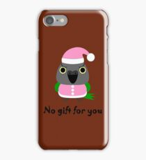オウム パロットSenegal parrot as Santa for Christmas iPhone Case/Skin