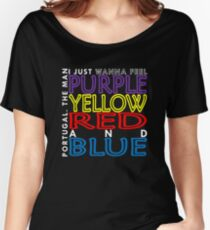 Purple Yellow Red and Blue (Portugal. The Man) Women's Relaxed Fit T-Shirt