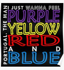 Purple Yellow Red and Blue (Portugal. The Man) Poster