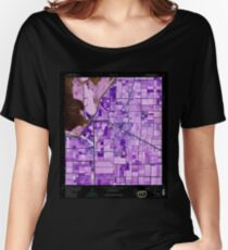 USGS TOPO Map Florida FL Belle Glade 345141 1970 24000 Inverted Women's Relaxed Fit T-Shirt