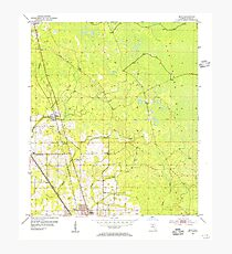USGS TOPO Map Florida FL Boyd 345265 1954 24000 Photographic Print
